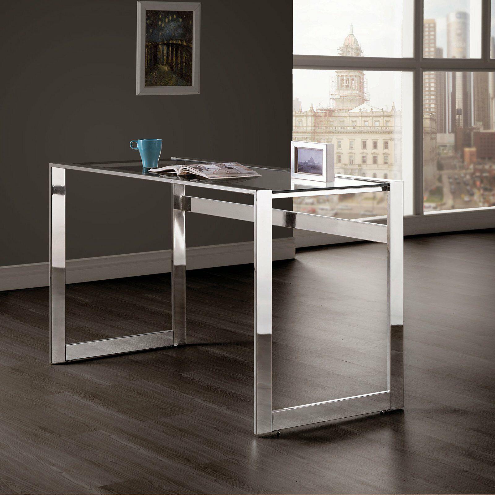 Mainstays Versatile Modern Glass Top Desk Multiple Colors For Sale Online Ebay