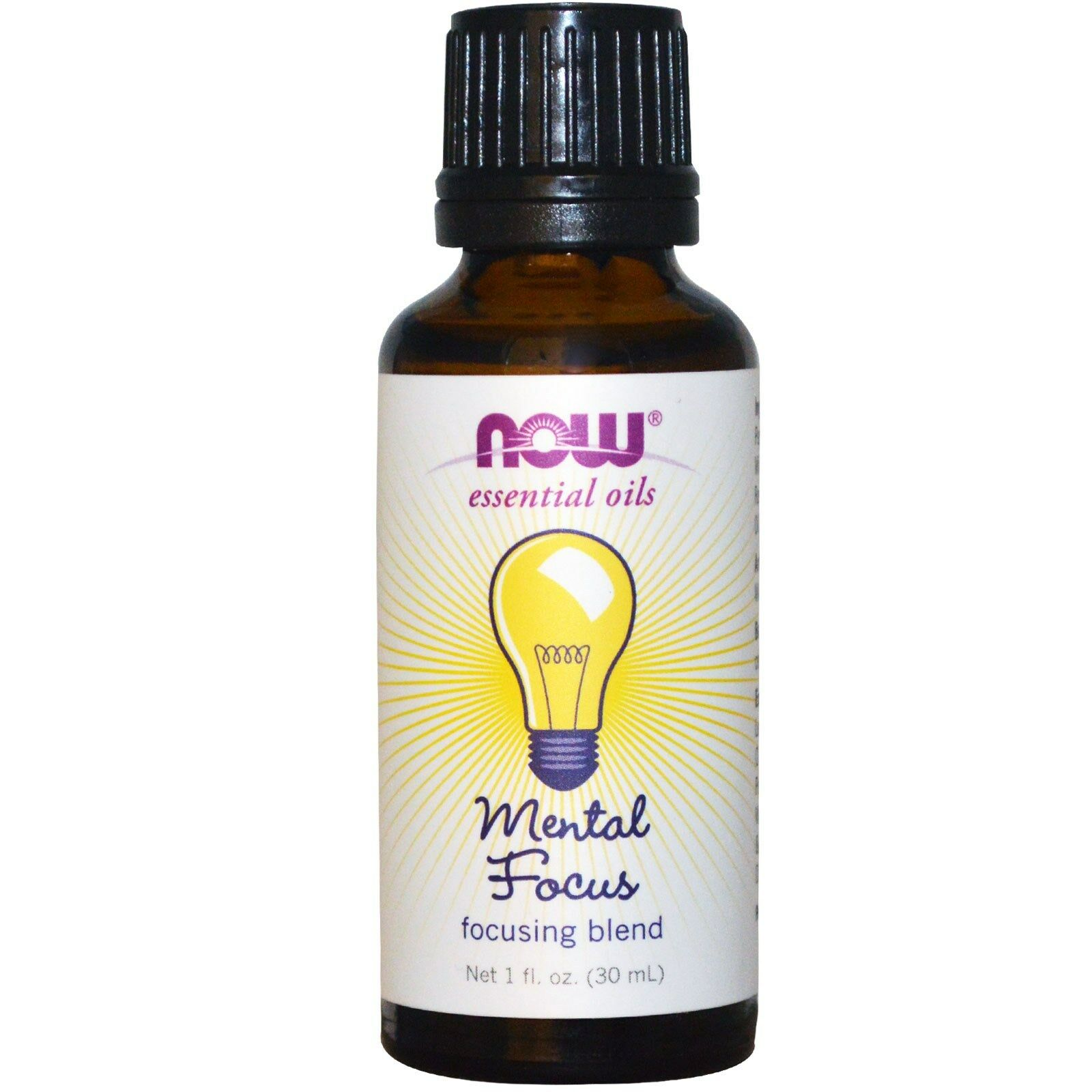 NOW Foods 1 oz Essential Oils and Blend Oils - FREE SHIPPING! Mental Focus Blend