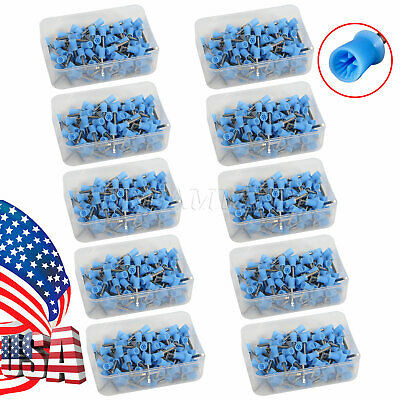 100-1000 Dental Polishing Polisher Prophy Angle Cups Latch Tooth Brush Blue F4