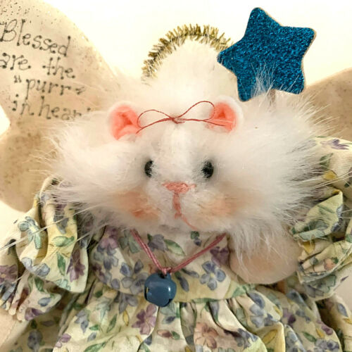 """Maus Haus Cat Angel Handmade """"Blessed are the """"Purr"""" At Heart Diana Boud 2002"""