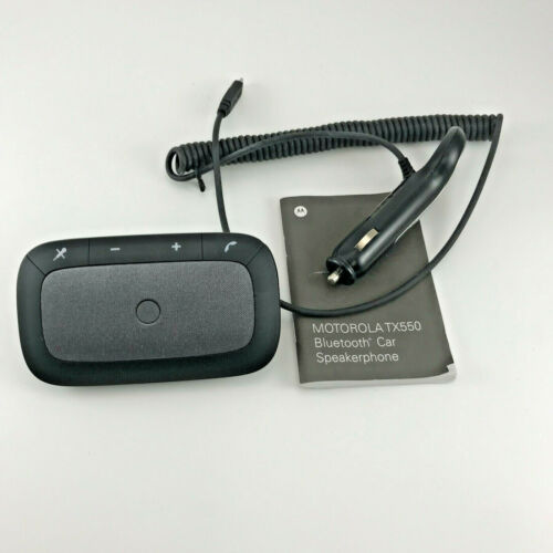 Motorola TX550 Sonic Rider Bluetooth Wireless in-Car Speakerphone w/ Car Charger