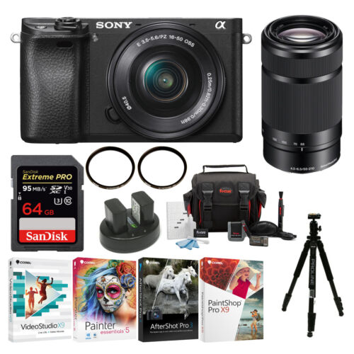 Sony a6300 Mirrorless Digital Camera w/ 16-50mm & 55-210mm L
