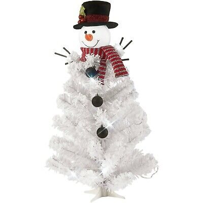 Holiday Time 24-Inch Pre-Lit Tree, Cool White Led Lights & Snowman Topper