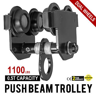 0.5 Ton Push Beam Track Roller Trolley Overhead Washers Included Adjustable
