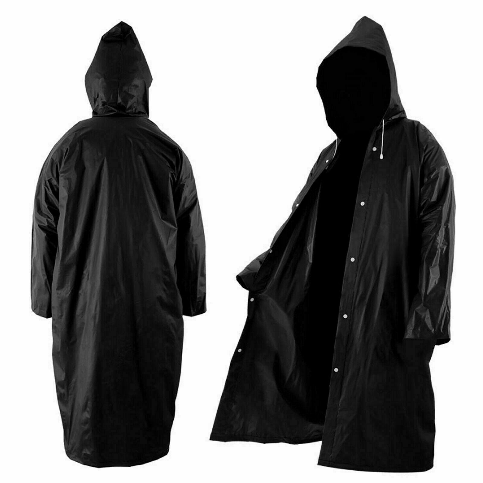 ✧Women//Men Waterproof Raincoat Outdoor EVA Cloth Long Rain Coat Poncho With Hat