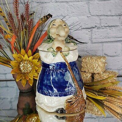 Vintage Cassandra Kitchen Witch 1980 R J Drinkwater COOKIE JAR BIG NOSE