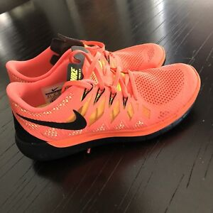 Nike Free 5.0, Coral, Size 8.5, Running Shoes, Sneakers