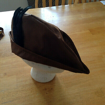 Woodsman Costume (mens renaissance medieval hat fop faux leather peter pan woodsman)