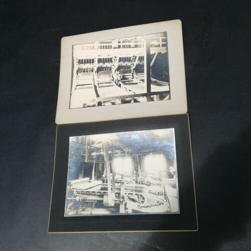 2 Antique 1909 Central Consolidated Mining Concentrators Photo Mine President