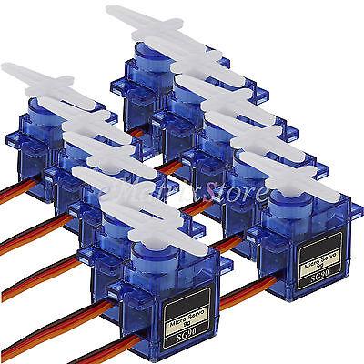 10X  9G SG90 Mini Gear  Micro Servo Motor für Robot Helicopter Airplane Controls