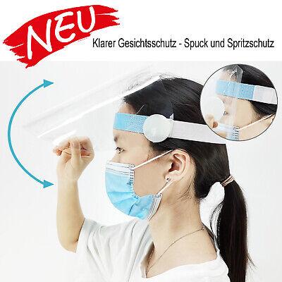 Klarer Gesichtsschutz Anti-Spritz Anti-Spuck Windschutz Regenschutz Maske Visier