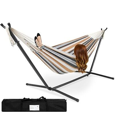 Best Choice Products Double Hammock Set w/ Accessories Outdoor Patio