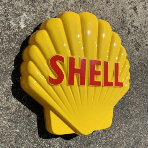 SHELL CLAM LOGO LED LIGHT BOX ADVERTISING SIGN GARAGE PETROL AUTOMOBILIA OIL