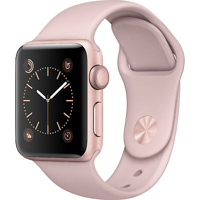 Apple Watch Gen2 Ser1 38Mm Rose Gold Aluminum Case Pink Sport Band Mnnh2ll A