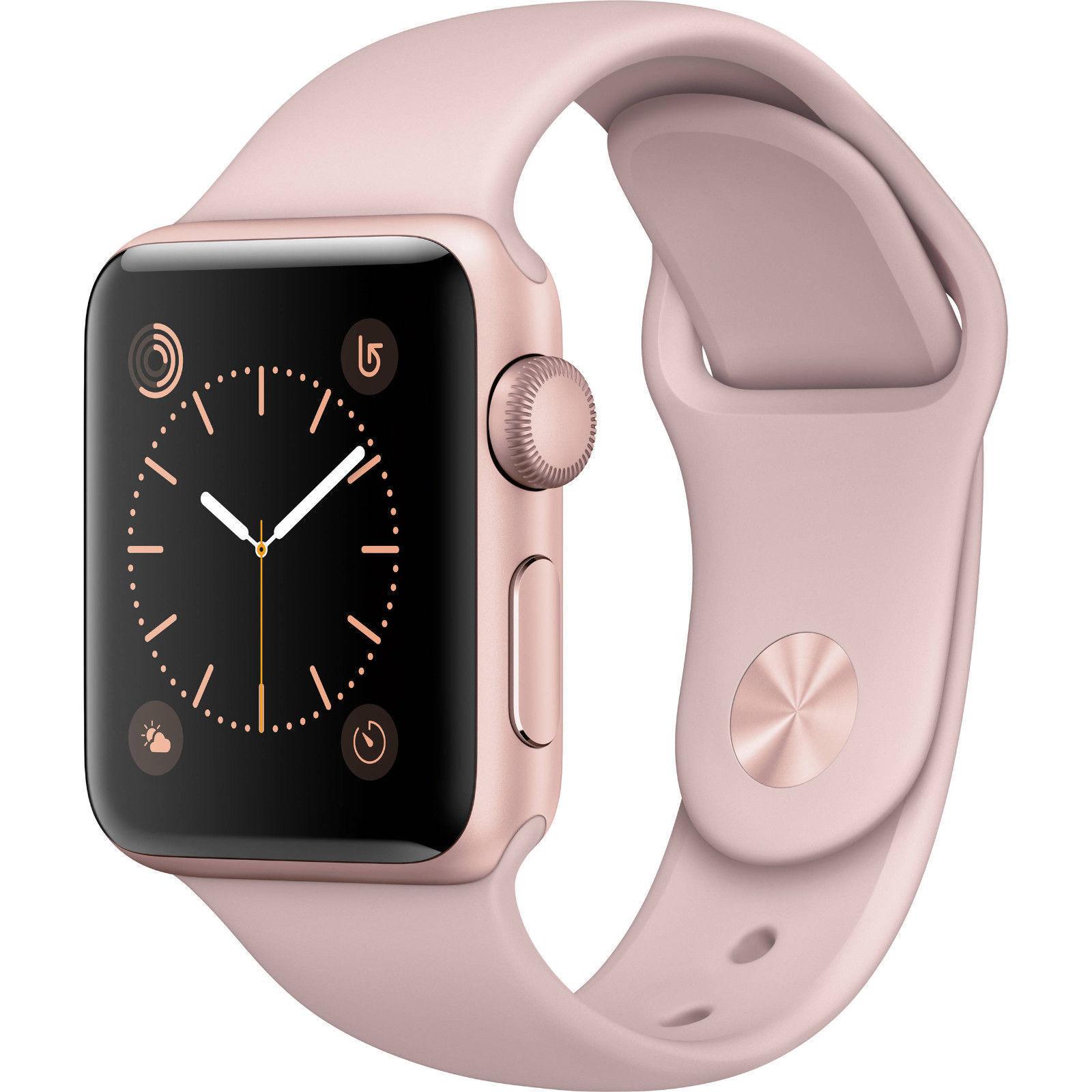 $239.95 - Apple Watch Gen2 Ser1 38mm Rose Gold Aluminum Case Pink Sport Band MNNH2LL/A