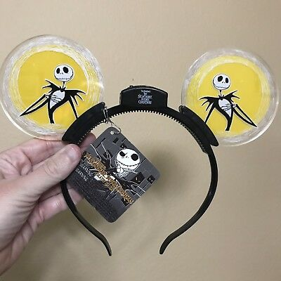 NEW Disney Parks JACK SKELLINGTON NBC Light Up Ears Headband! - Jack Disney Halloween