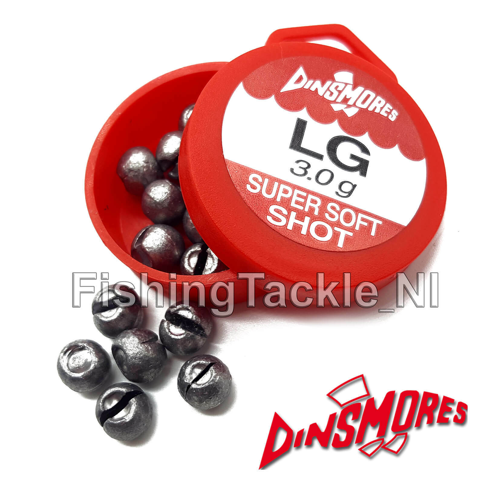Dinsmore Soft Fishing  Refill Split Shot Tub Assorted Sizes to Choose From