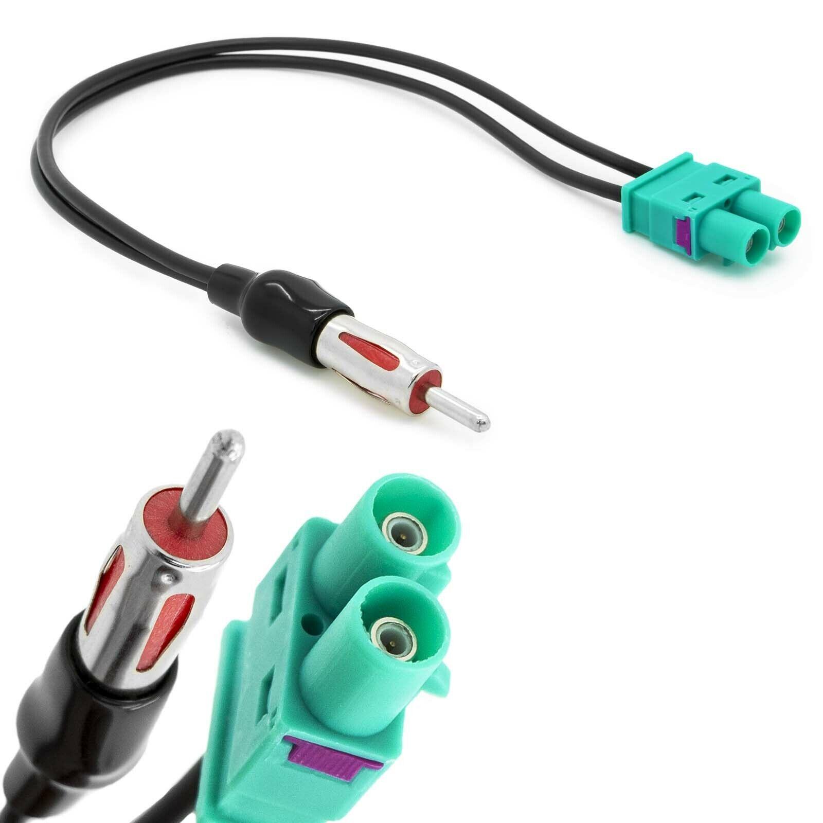 Doppel Fakra (Z) Radio Antennen Adapter DIN ISO Stecker für Audi VW Seat Volvo