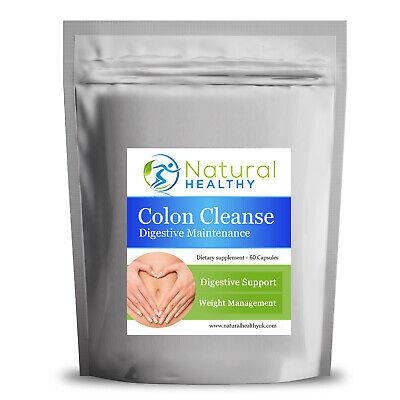 30 Colon Cleanse Detox Formula with Aloe Vera Fennel Psyllium Husk Nettle...
