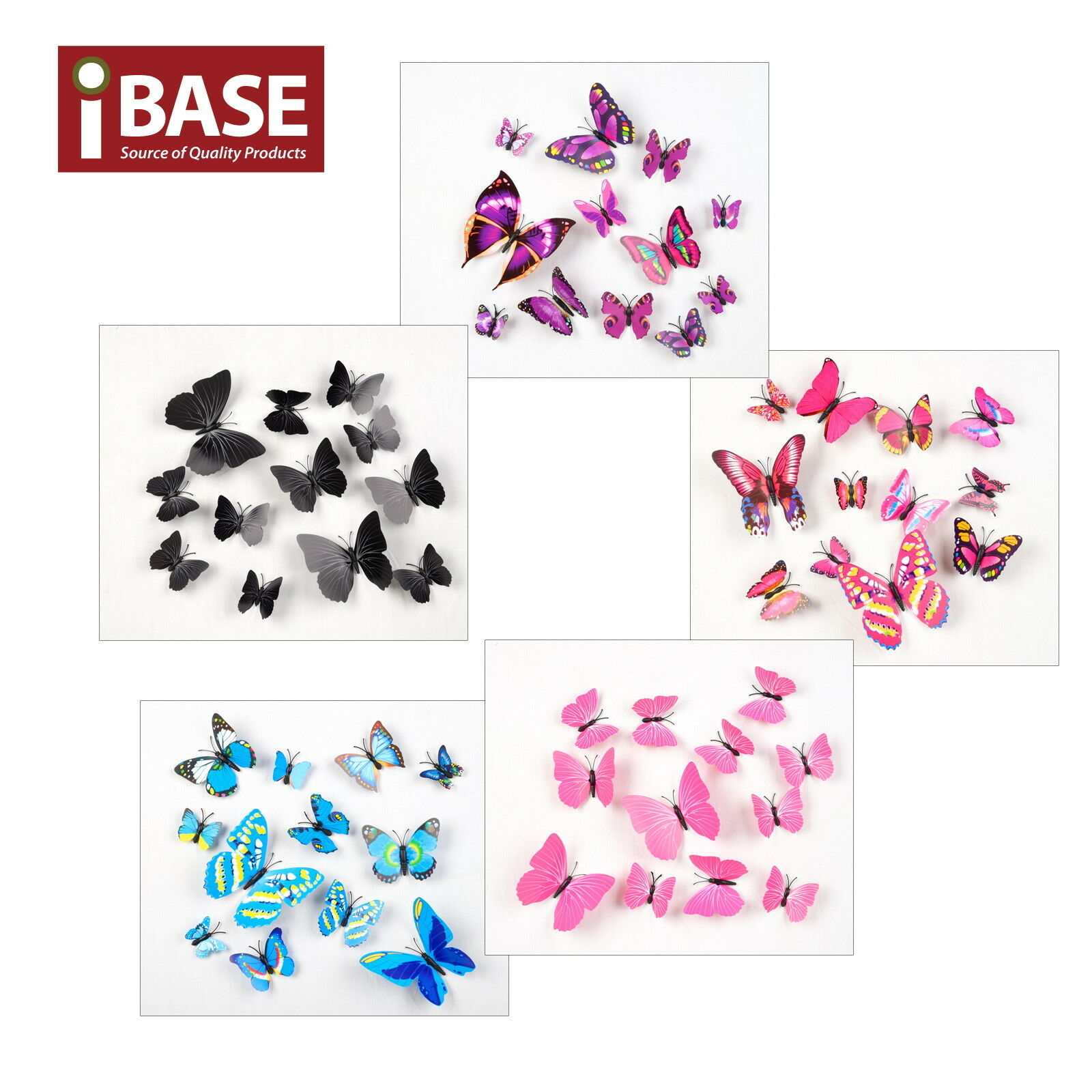 Home Decoration - 12PCS 3D DIY Wall Decal Stickers Butterfly Home Room Art Decor Decorations AU OZ
