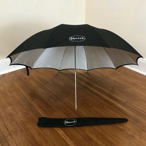 "Photek umbrella with dull silver reflective interior 45"" diameter convertible"