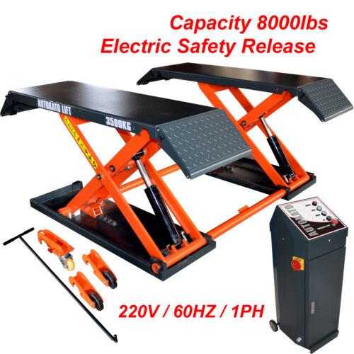 AUTOKATO Mid Rise Scissor Lift 8000lbs Electric Release Auto Lift 220V/1PH