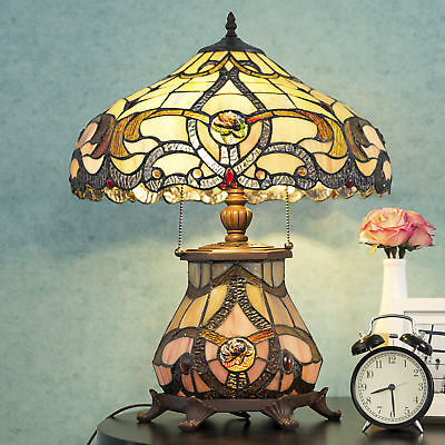 Tiffany Style Lamp Desk Lamp Floral Stained Crystal Home Decor Lighting