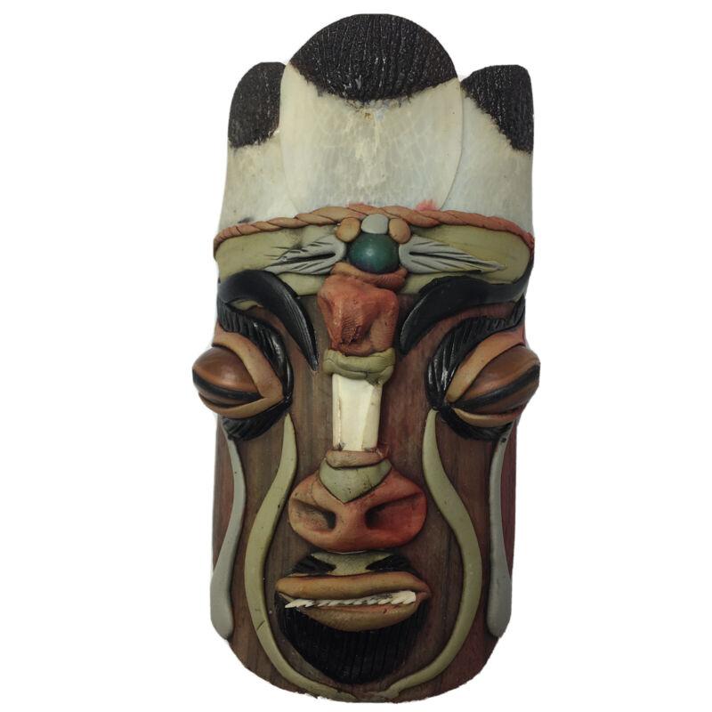 "Amazonia Brasil Tribal Mask Brazil From the Amazon Wall Hanging Unique Tiki 6"""