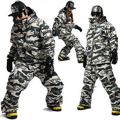SOUTH PLAY Hohe Qualitä Wasserdichte Ski Snowboard Anzüge Jacke Hose CAMO SET