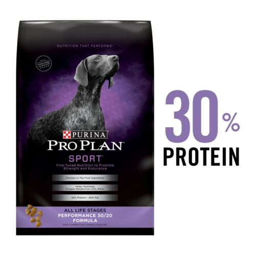 Purina Pro Plan High Protein Dry Dog Food, SPORT Performance 30/20 , 50LBS - New