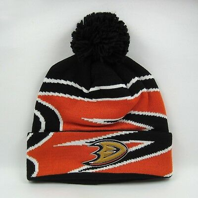 Adidas Men's NHL Anaheim Ducks Team Colors Winter Knit Bobble Beanie Hat