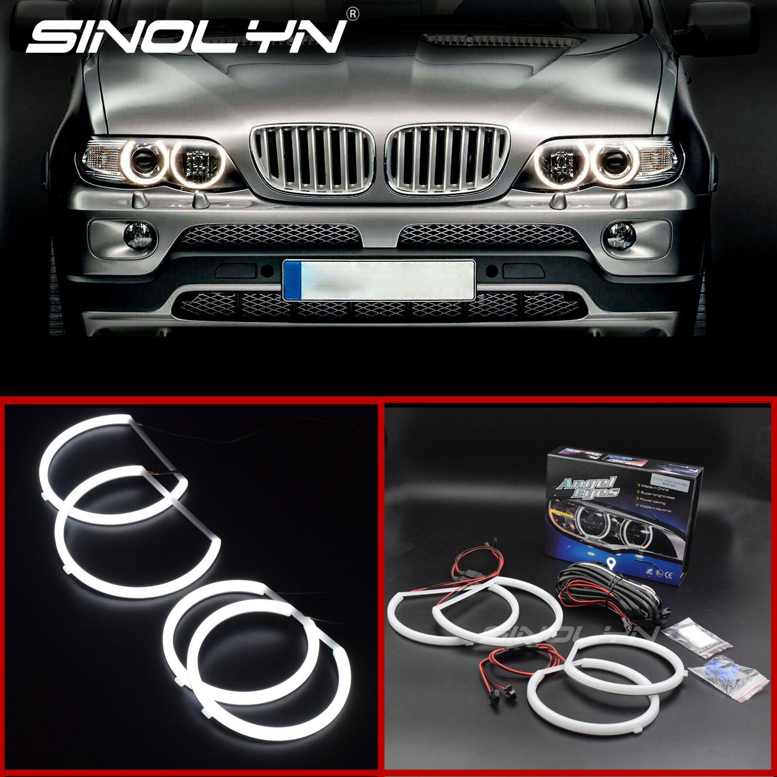For BMW Angel Eye Halo Light Lamp Ring LED SMD Kit White