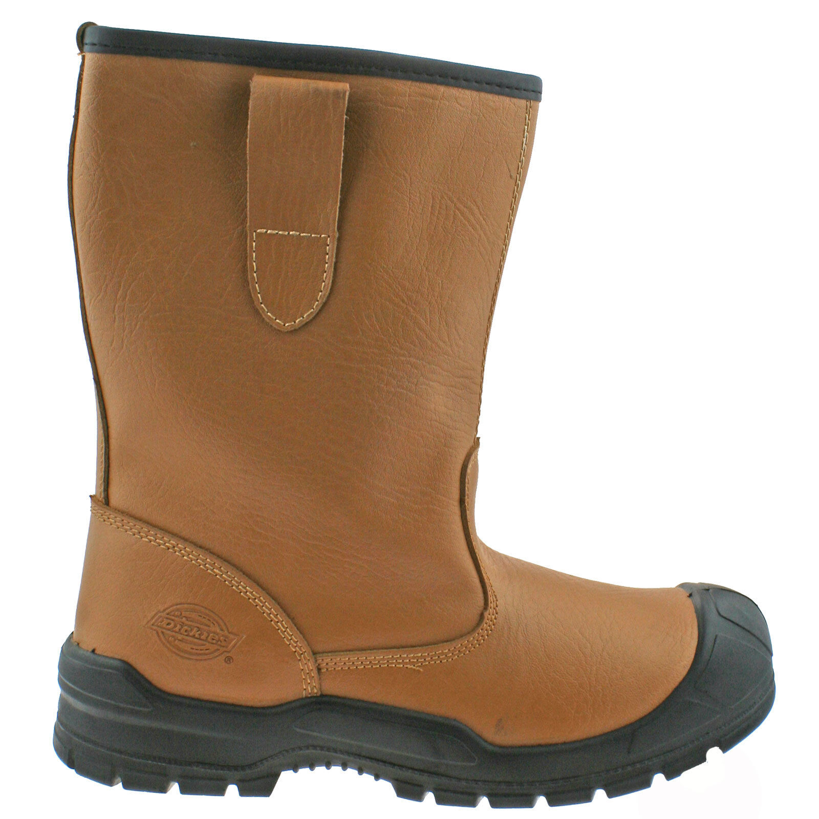 7ecc4d4b3a5 Details about MENS DICKIES DIXON LINED RIGGER TAN SCUFF CAP SAFETY STEEL  TOE CAP WORK BOOTS