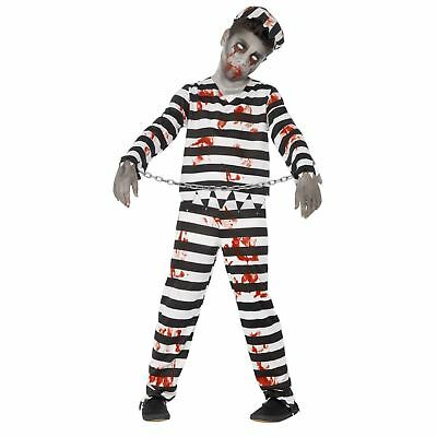 Kids Boys Bloodied Escaped Zombie Prison Convict Halloween Costume Jailhouse SFX](Escaped Convict Halloween Costume)