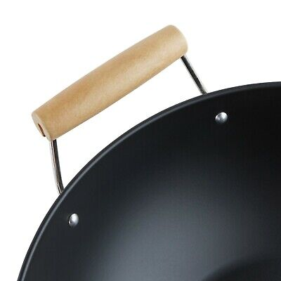 Nonstick Wok Pan Stir Fry Steam Carbon Steel Chinese Food Cooking Thai Asian Carbon Steel Stir Fry Pan