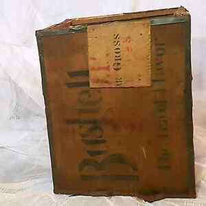 Authentic Wooden Tea Chest Box with 'Bushell's' Stamps Brunswick East Moreland Area Preview