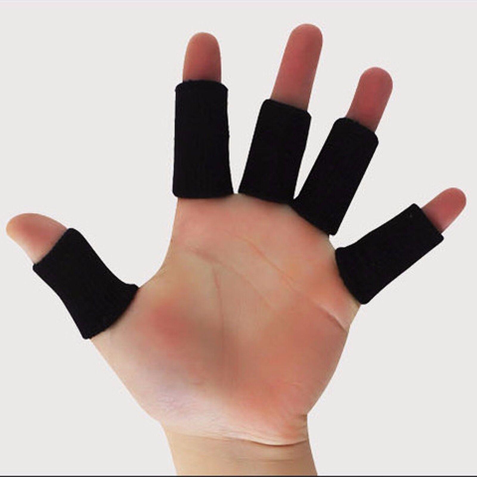 10pcs Sports Basketball Flexible Finger Sleeves Wraps Thumb