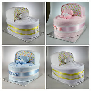 baby boy girl unisex nappy cake crib basinet new baby shower gift