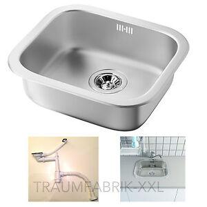IKEA FYNDIG Spülbecken Spüle Einbauspüle Küchenspüle Edelstahl Becken mit Siphon