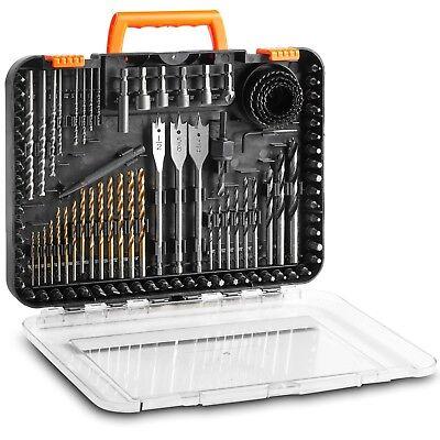 VonHaus 100-Piece Drill and Drive Set Titanium HSS and Chrome Vanadium Bits