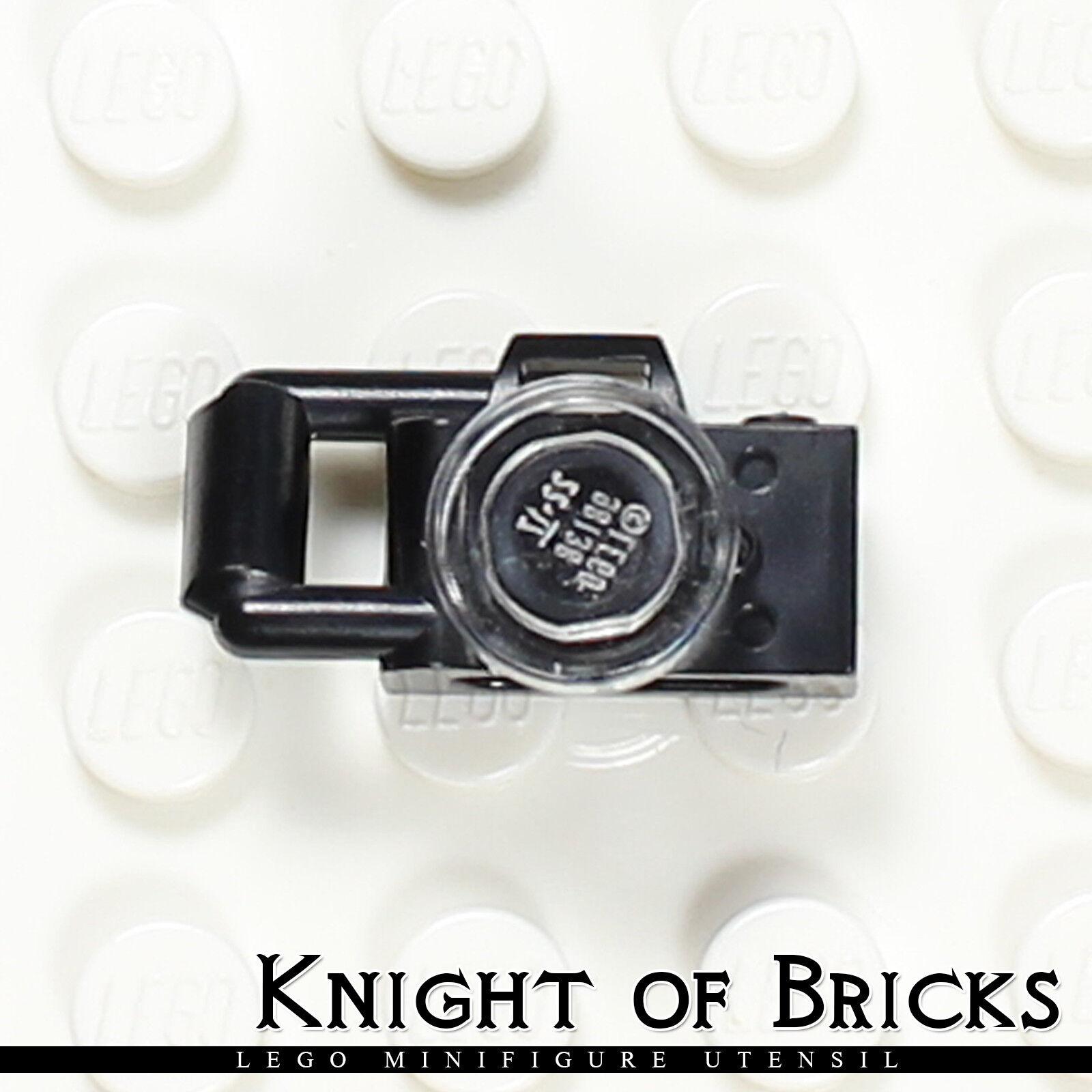 Lego mini figure 1 Black Camera tool town city NEW