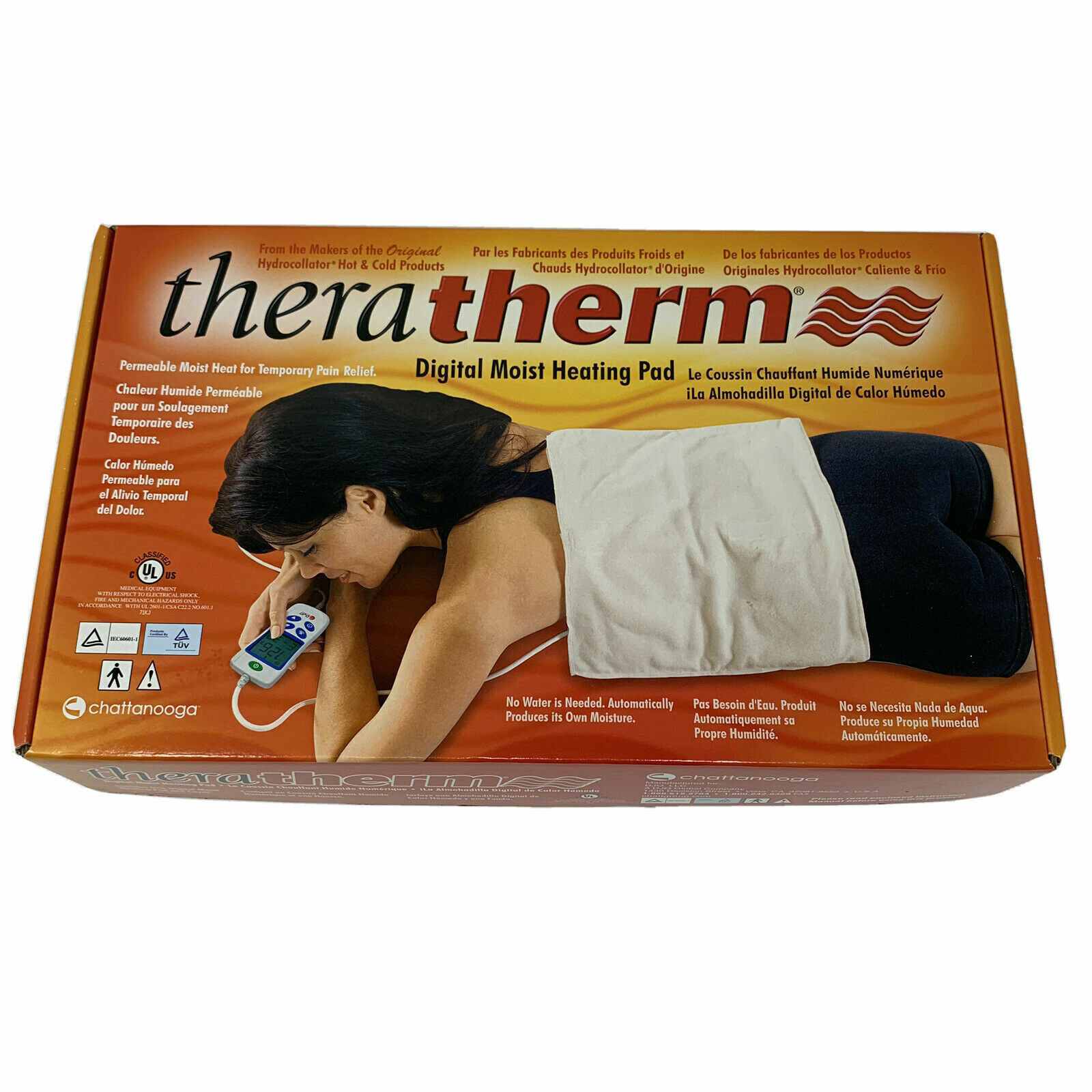 Chattanooga Theratherm Digital Moist Heating Pad, Large/Stan