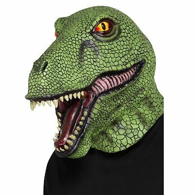 New Raptor T-Rex Lizard Dinosaur Latex Mask Realistic Jurassic Adult Fancy Dress](Dinosaur Realistic Costume)