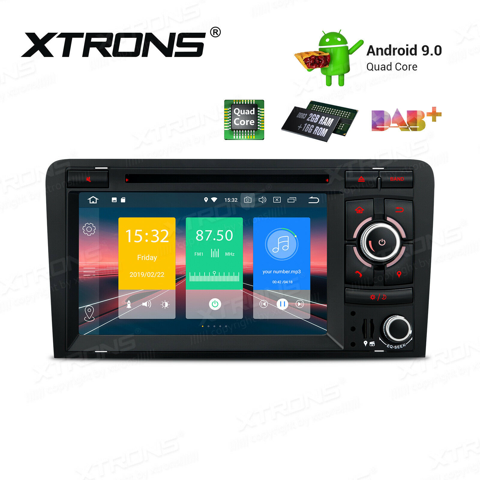 Details about Android 9 0 Car Head Unit Stereo Radio GPS BT5 0 Wifi DVD For  Audi A3 S3 RS3