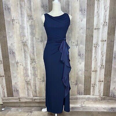 Lauren Ralph Lauren Women's Size 2P Petite Sleeveless Jersey Dress Ruffle Front