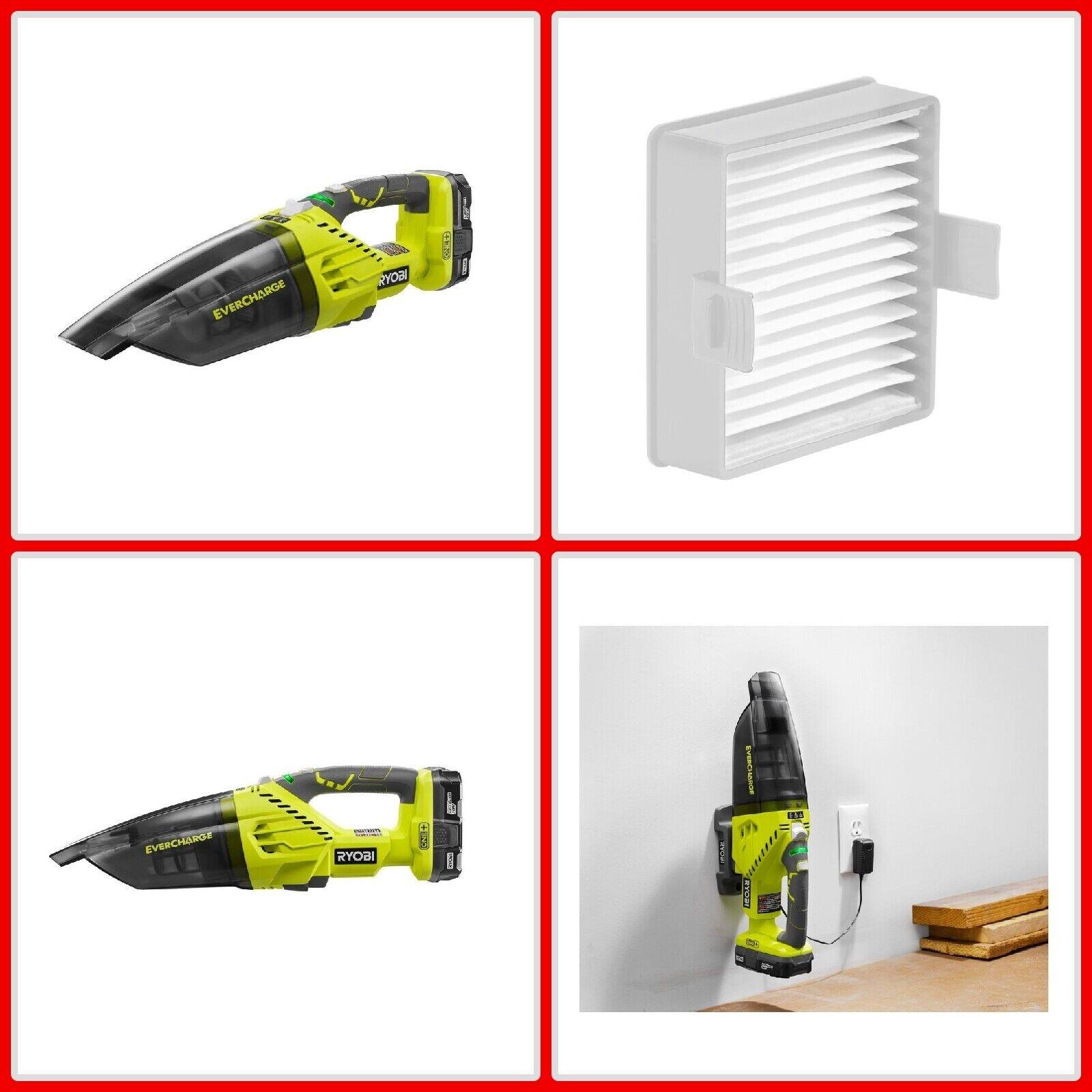 Ryobi Hand Vacuum Cleaner Kit 18-Volt Portable Handheld Vac