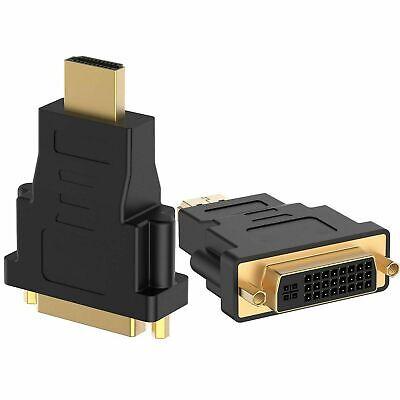 Enchufe Macho HDMI a DVI 24+5 Hembra Adaptador Convertidor Zócalo chapado en