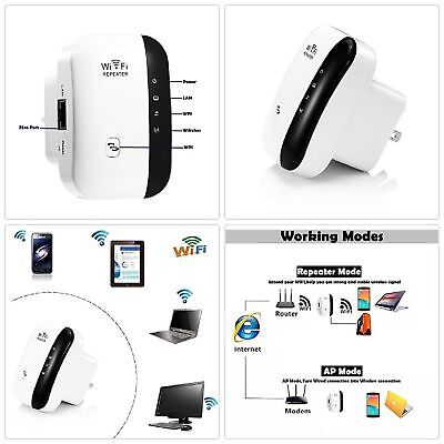 EU WiFi Range Extender Super Booster 300Mbps Superboost Boost Speed Wireless