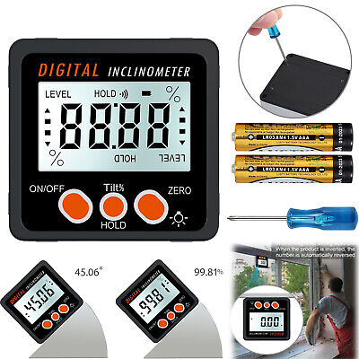 4 90 Lcd Digital Level Box Angle Finder Inclinometer Protractor Gauge Magnet