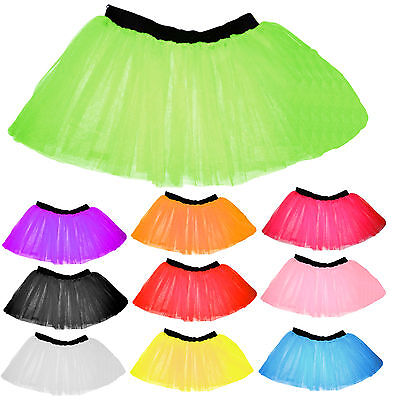 LAYERS UV FLO GIRL TUTU SKIRT FANCY DRESS PARTY 4-14 YEARS (Flo Kostüme)